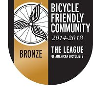 2014 - 2018 Bicycle Friendly Community Bronze Award