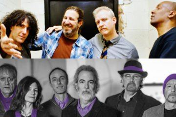 Double image of Spin Doctors and 10,000 Maniacs bands