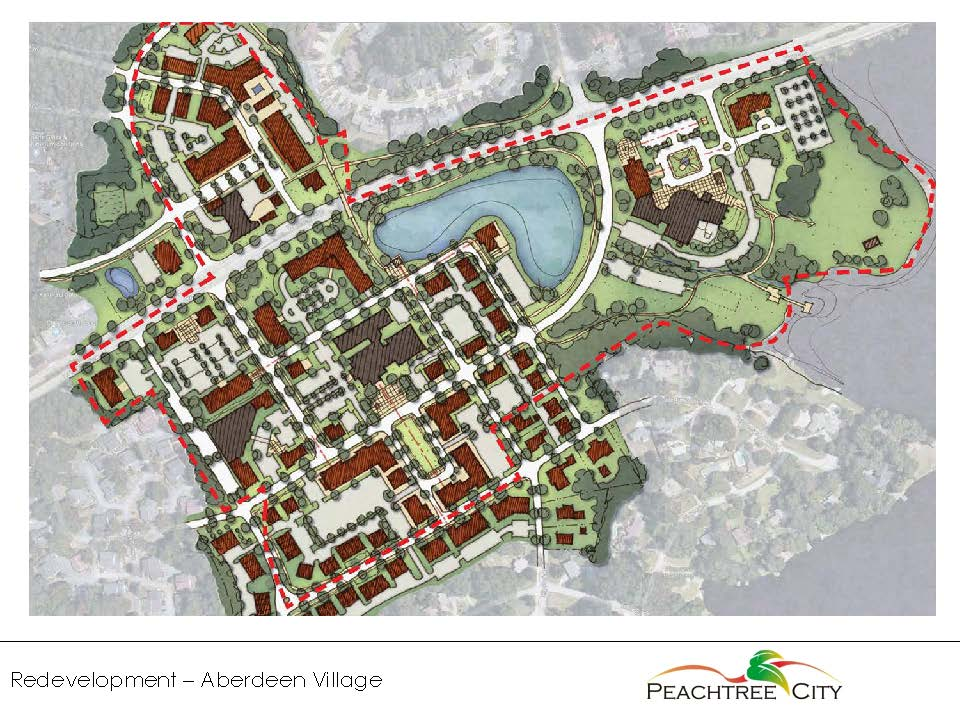 Peachtree City Redevelopment Conceptual Vision plan
