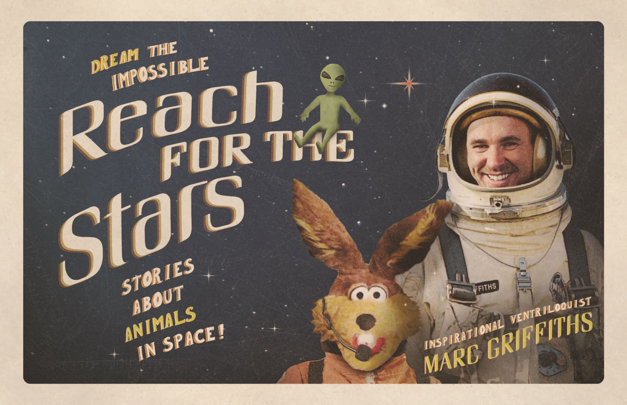 Marc Griffiths Reach for the Stars flyer